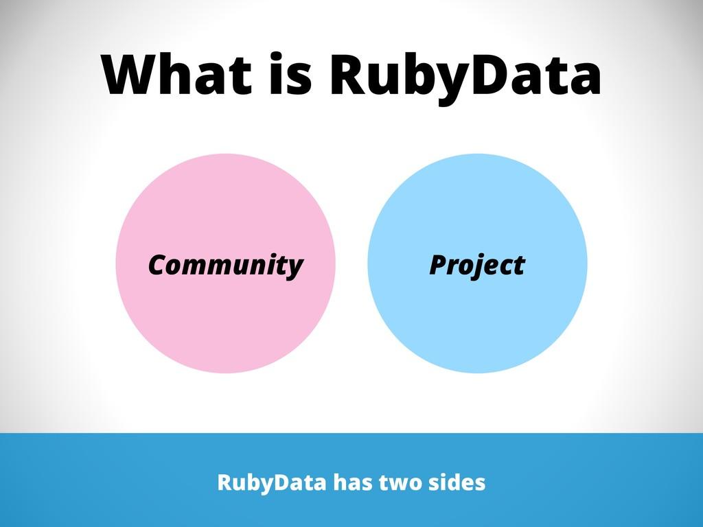 What is RubyData RubyData has two sides Communi...