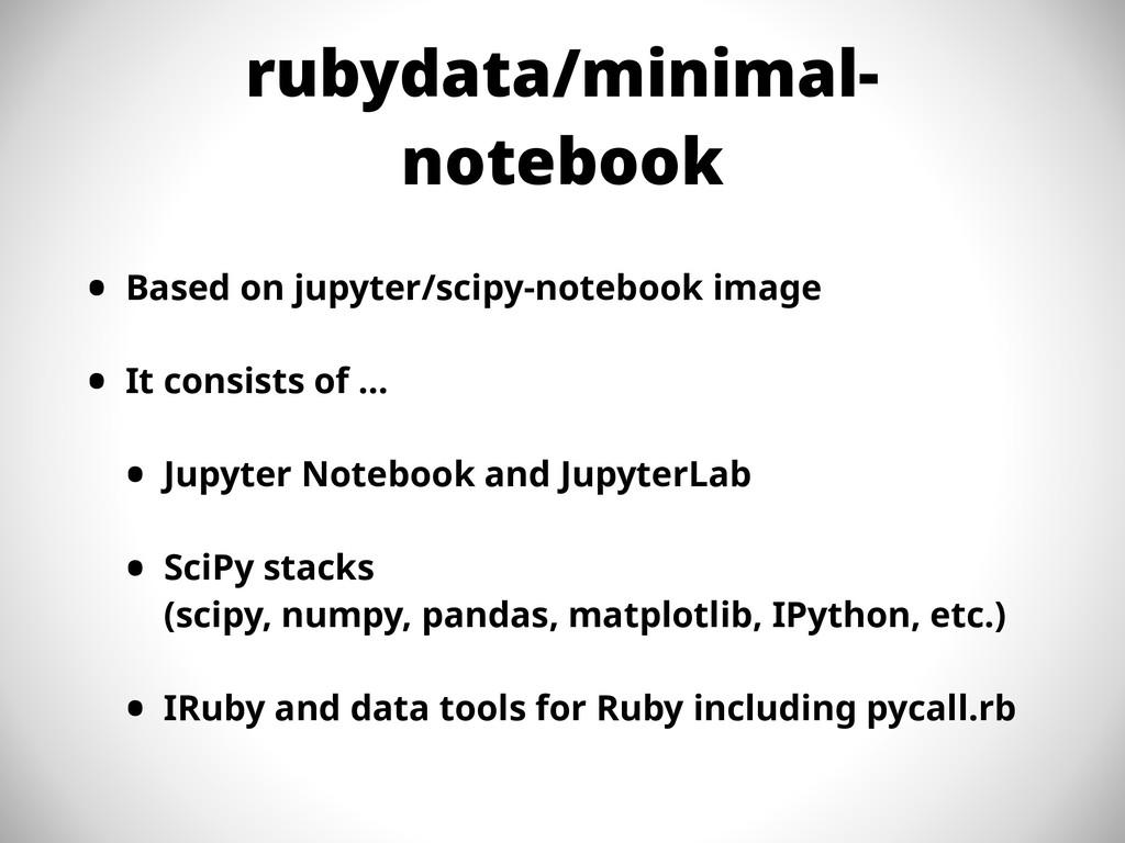 rubydata/minimal- notebook • Based on jupyter/s...