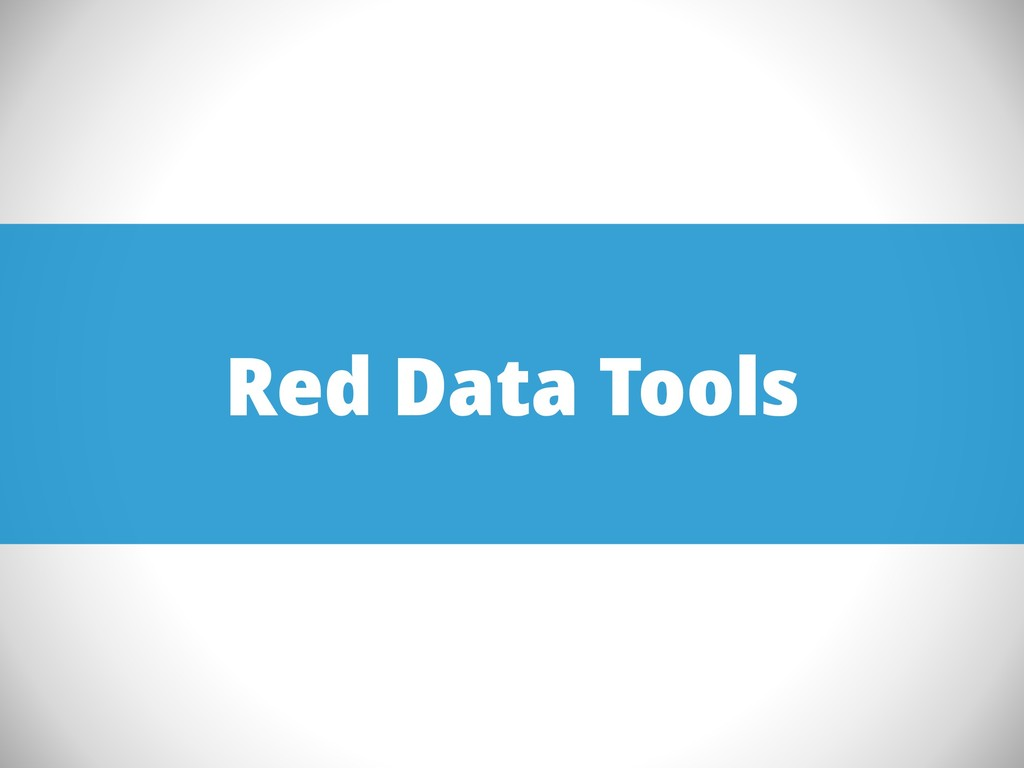 Red Data Tools