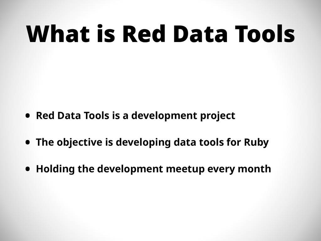 What is Red Data Tools • Red Data Tools is a de...