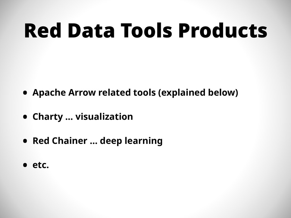 Red Data Tools Products • Apache Arrow related ...