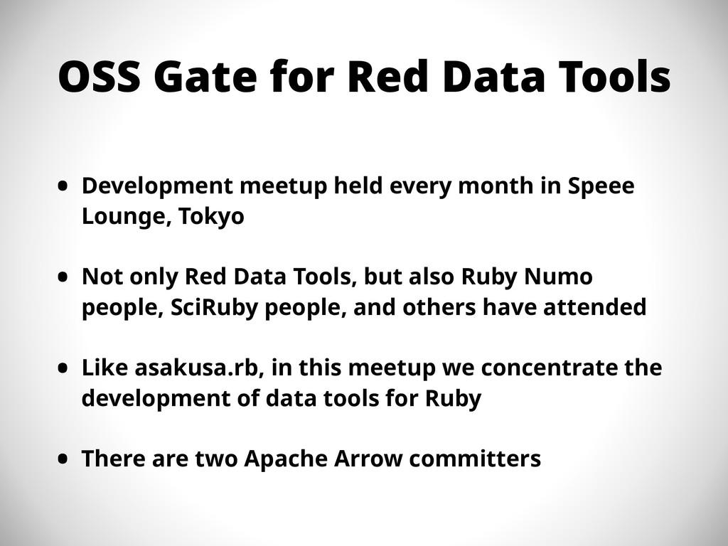 OSS Gate for Red Data Tools • Development meetu...
