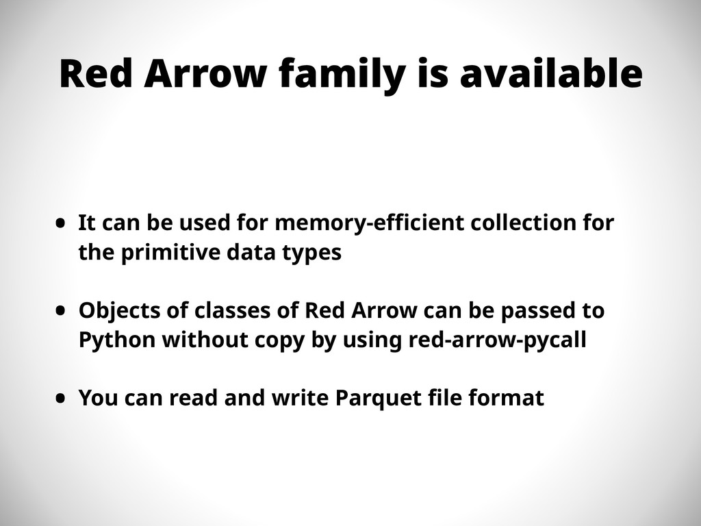 Red Arrow family is available • It can be used ...