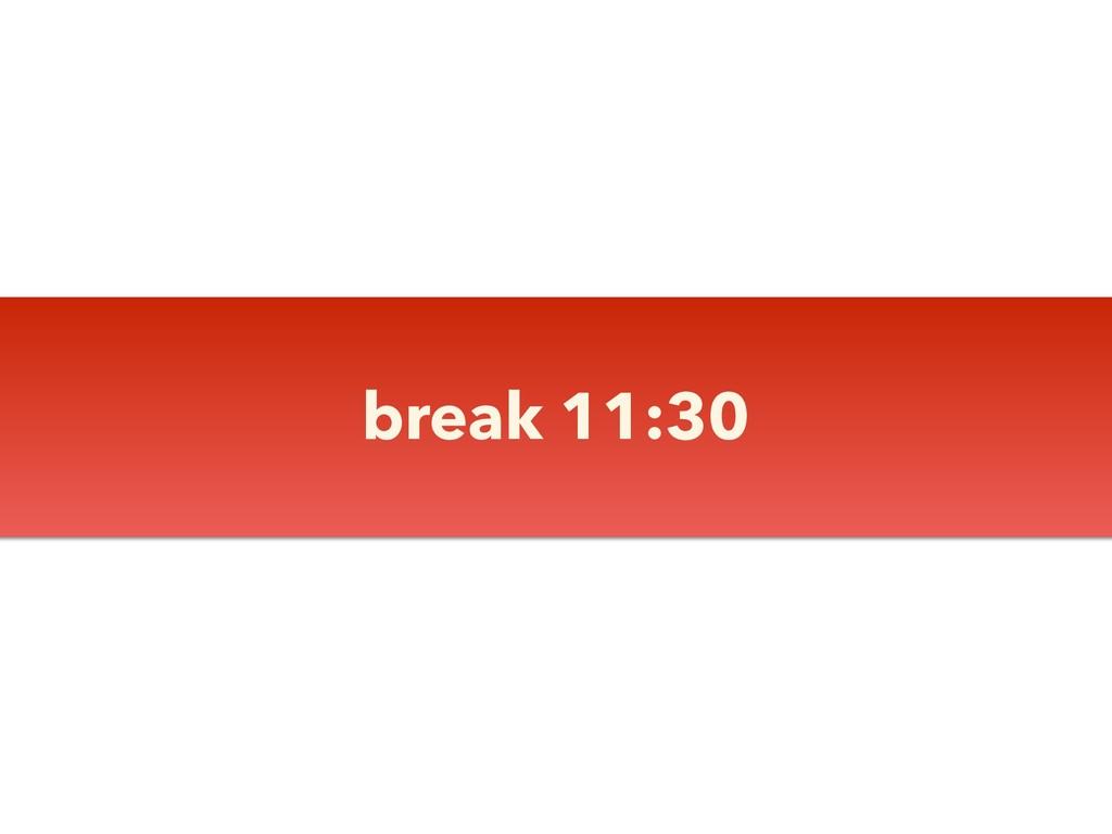 break 11:30