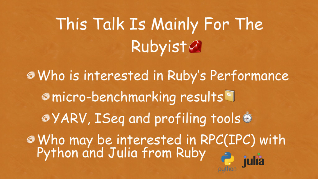 Who is interested in Ruby's Performance micro-b...