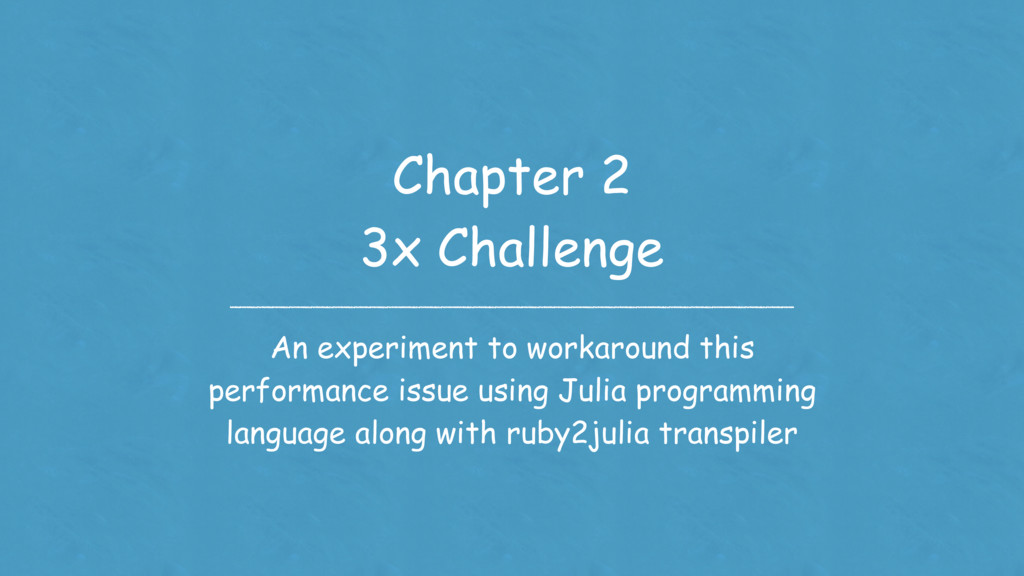 Chapter 2 3x Challenge An experiment to workaro...