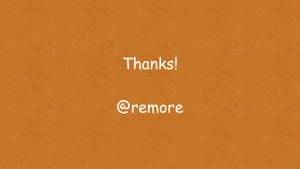 Thanks! @remore