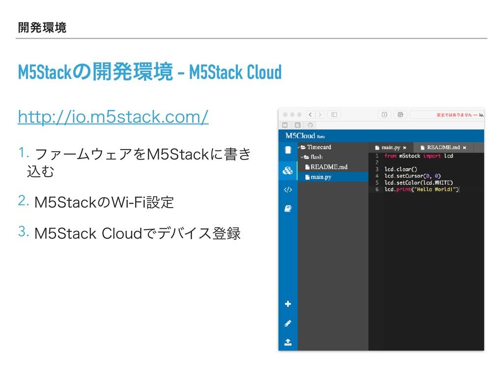 ։ൃڥ M5Stackͷ։ൃڥ - M5Stack Cloud IUUQJPNT...