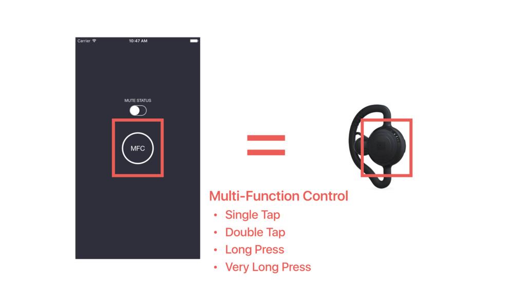 Multi-Function Control • Single Tap • Double Ta...