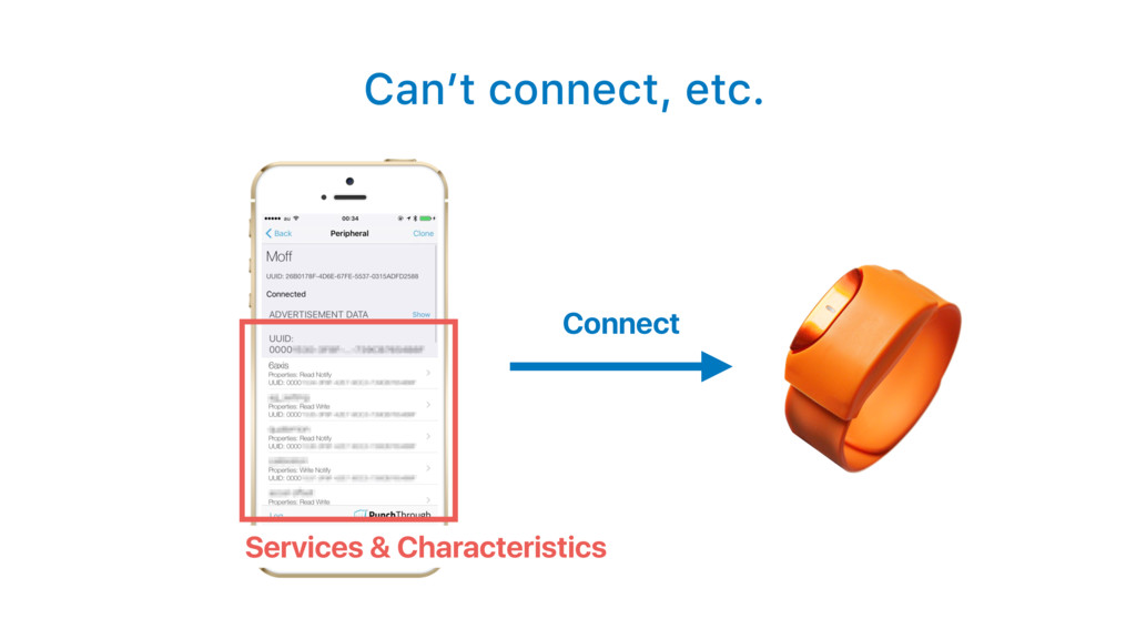 Can't connect, etc. Connect Services & Characte...
