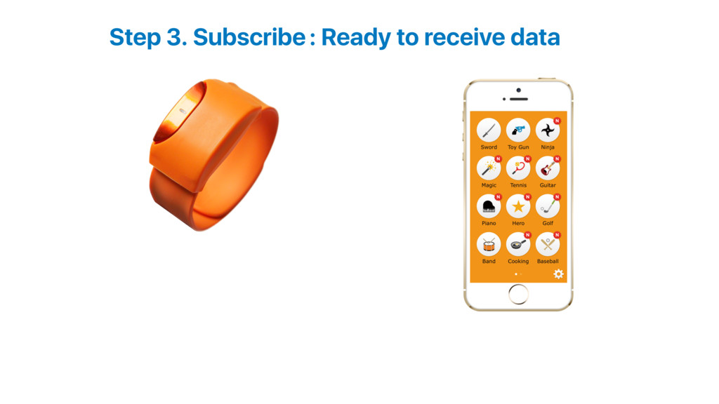 Step 3. Subscribe: Ready to receive data