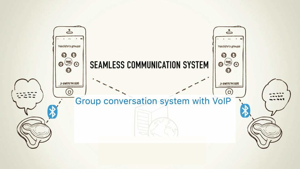 Group conversation system with VoIP
