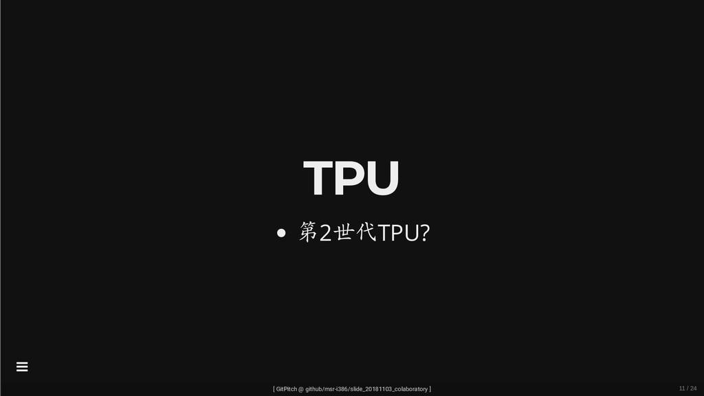 TPU 第2世代TPU? [ GitPitch @ github/msr-i386/slide...