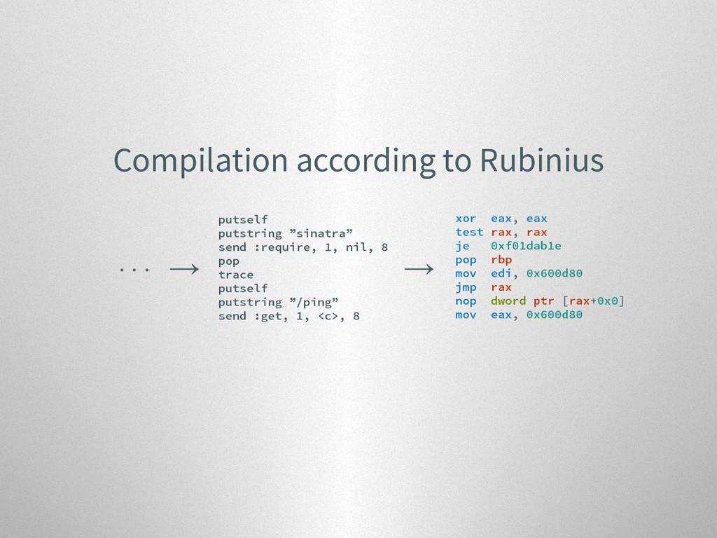 Compilation according to Rubinius . . . → putse...