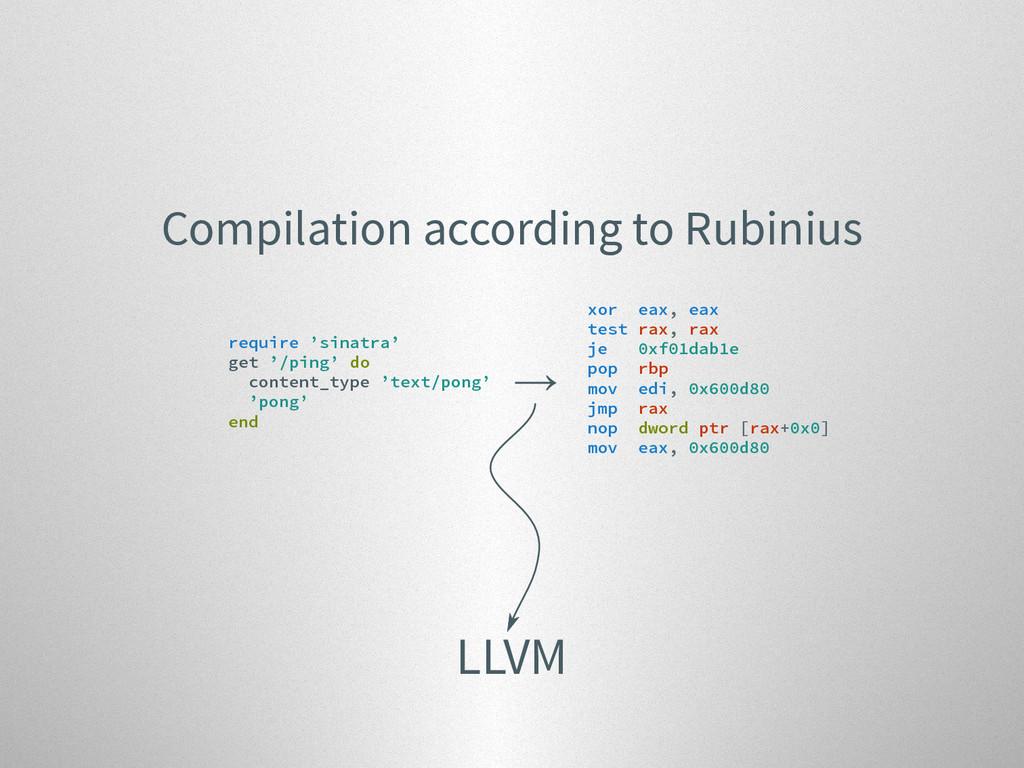 Compilation according to Rubinius require 'sina...
