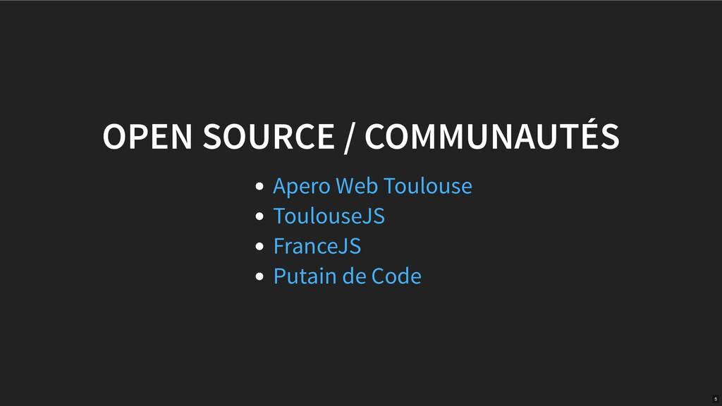 OPEN SOURCE / COMMUNAUTÉS Apero Web Toulouse To...