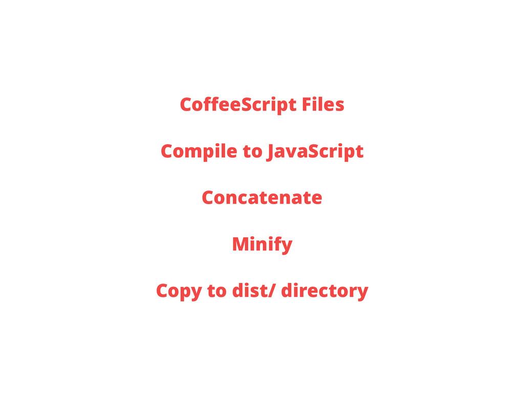 CoffeeScript Files Compile to JavaScript Concate...