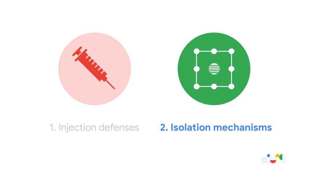 1. Injection defenses 2. Isolation mechanisms 1...
