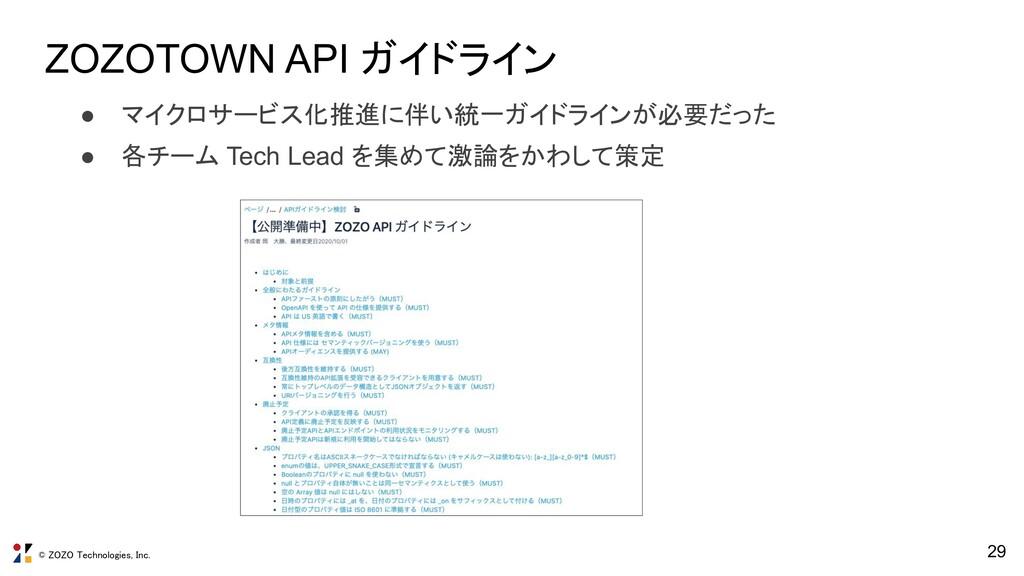 © ZOZO Technologies, Inc. ZOZOTOWN API ガイドライン 2...