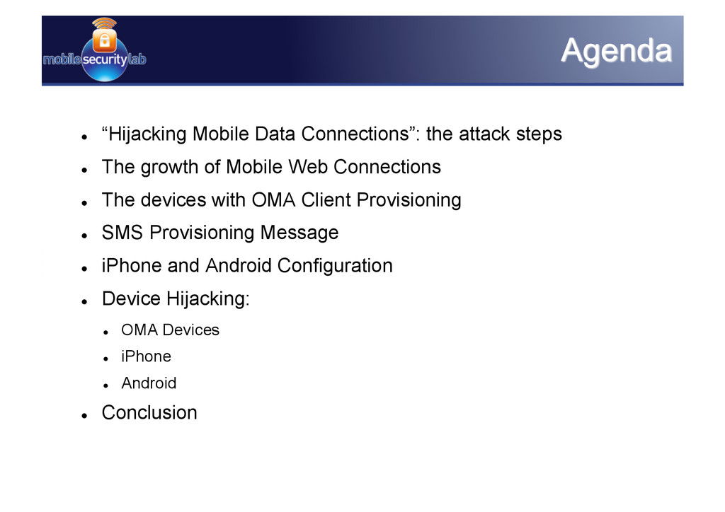 """ """"Hijacking Mobile Data Connections"""": the att..."""