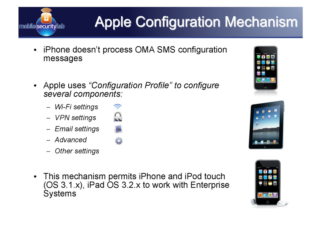 • iPhone doesn't process OMA SMS configuration...