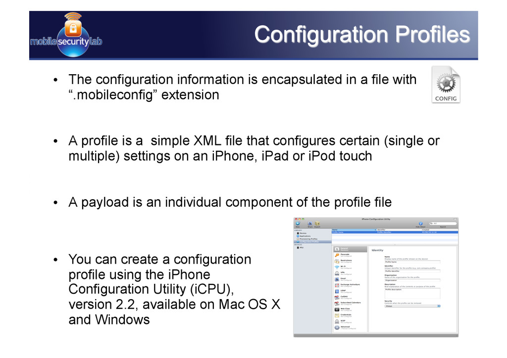 • The configuration information is encapsulate...