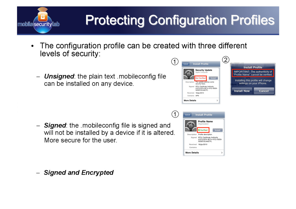 • The configuration profile can be created wit...
