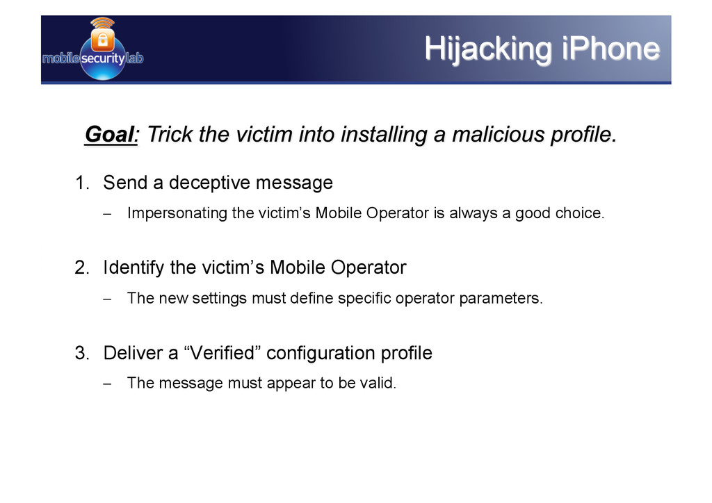 1. Send a deceptive message – Impersonating t...