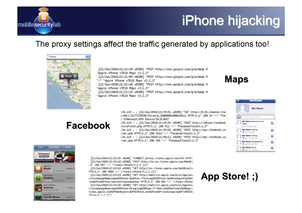 The proxy settings affect the traffic generated...