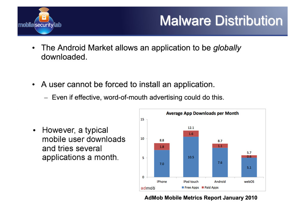 • However, a typical mobile user downloads and...