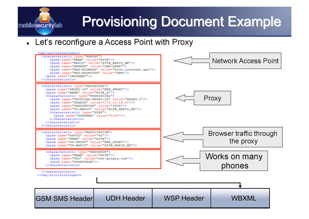 Network Access Point Proxy Browser traffic thro...