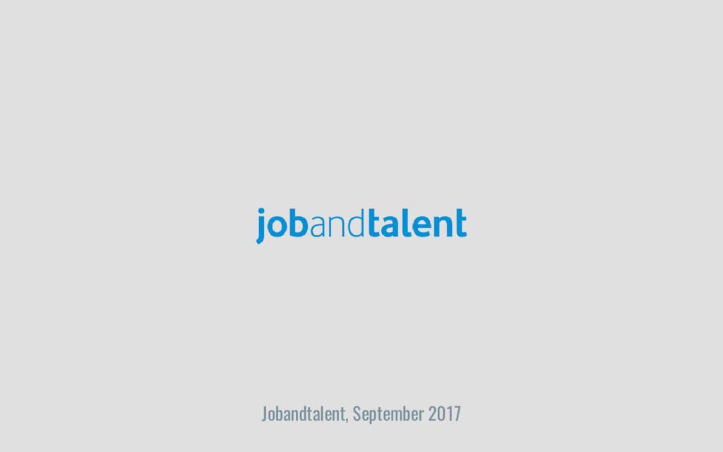 Jobandtalent, September 2017