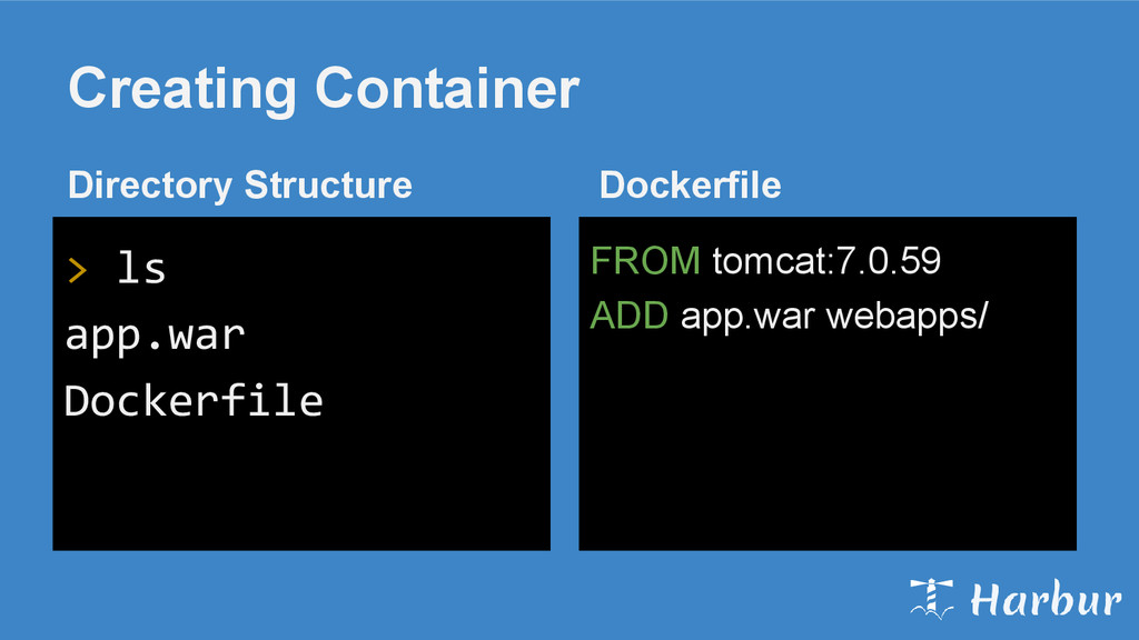 Creating Container FROM tomcat:7.0.59 ADD app.w...