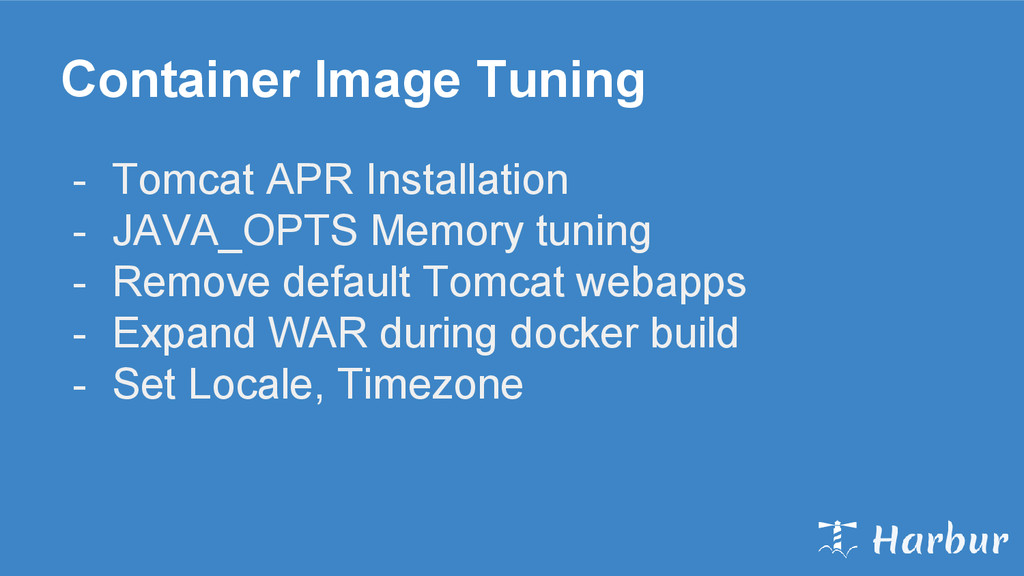 Container Image Tuning - Tomcat APR Installatio...