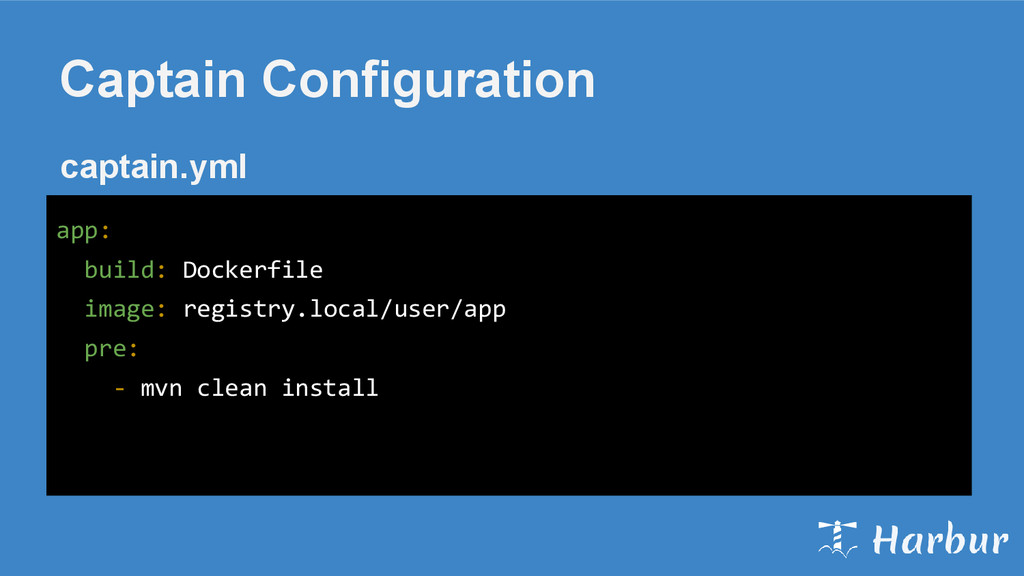 Captain Configuration app: build: Dockerfile im...