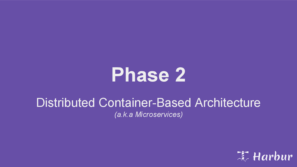 Phase 2 Distributed Container-Based Architectur...