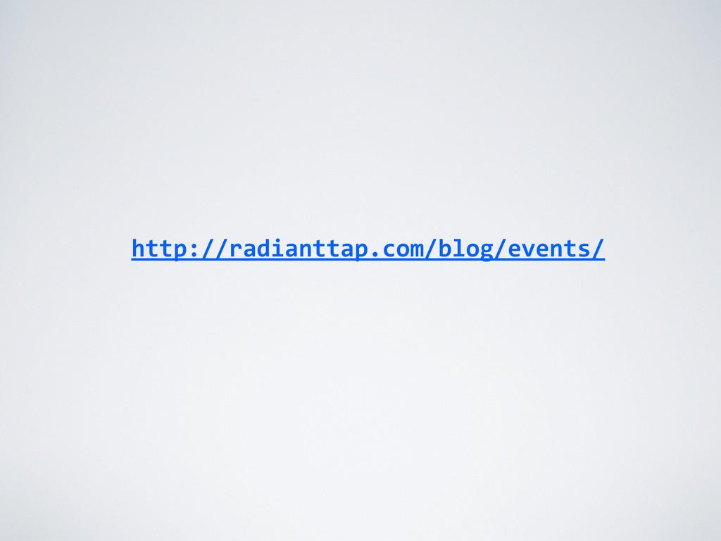 http://radianttap.com/blog/events/