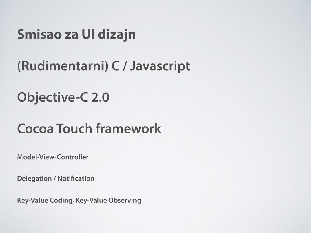 Smisao za UI dizajn (Rudimentarni) C / Javascri...