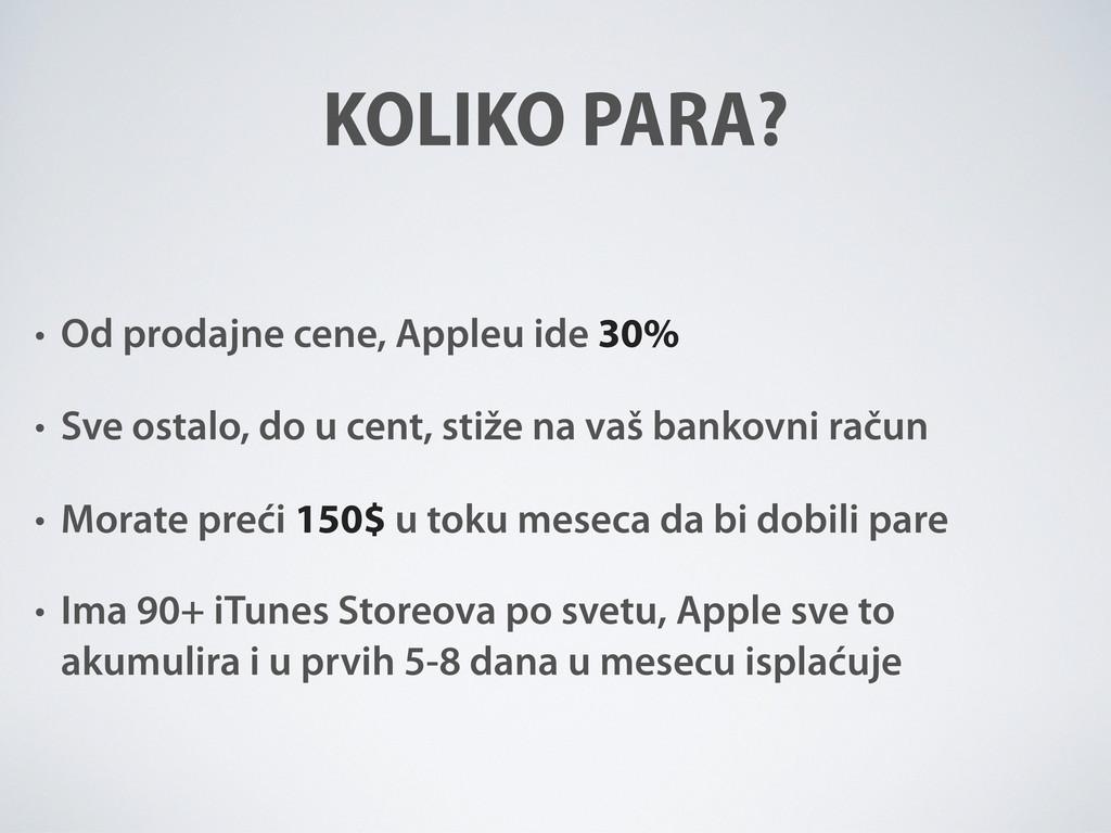 KOLIKO PARA? • Od prodajne cene, Appleu ide 30%...