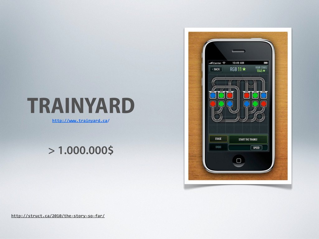 TRAINYARD > 1.000.000$ http://www.trainyard.ca/...