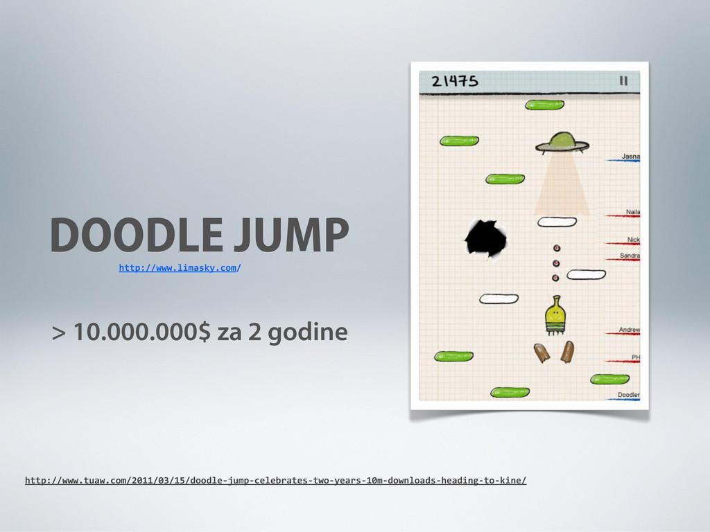 DOODLE JUMP > 10.000.000$ za 2 godine http://ww...