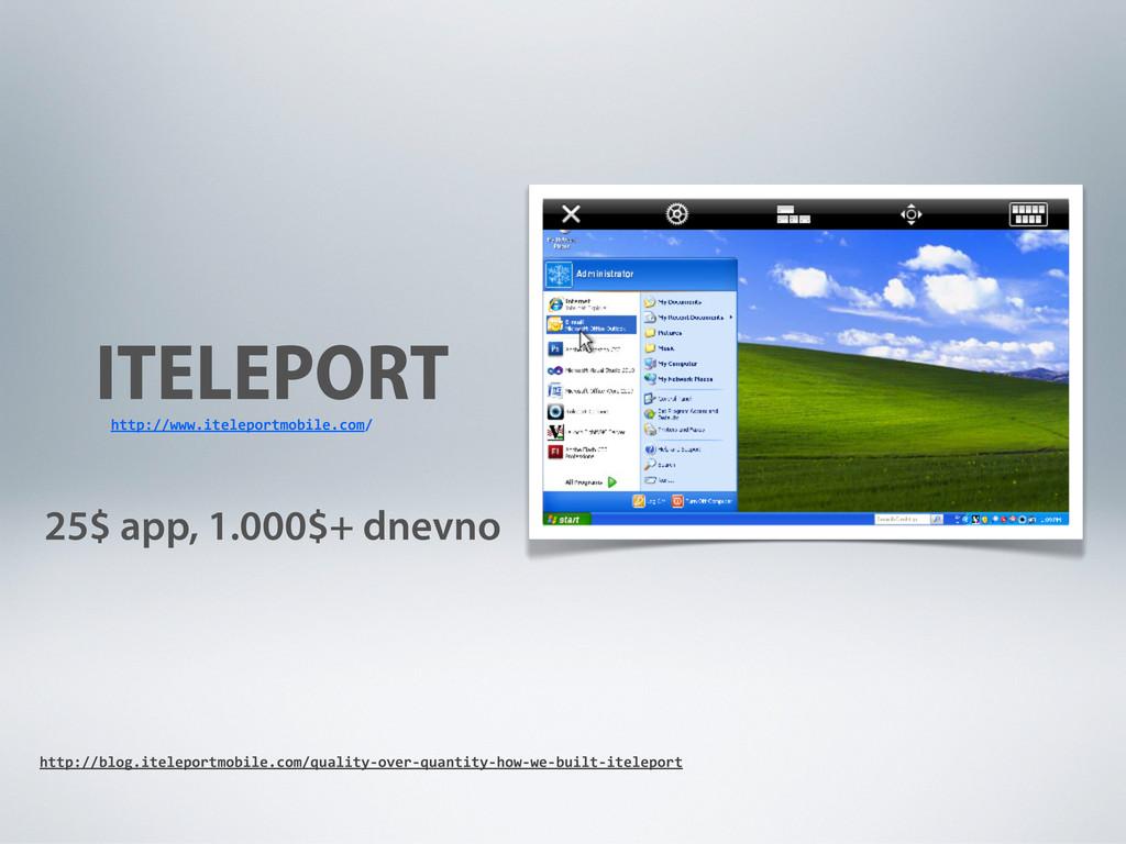 ITELEPORT 25$ app, 1.000$+ dnevno http://www.it...