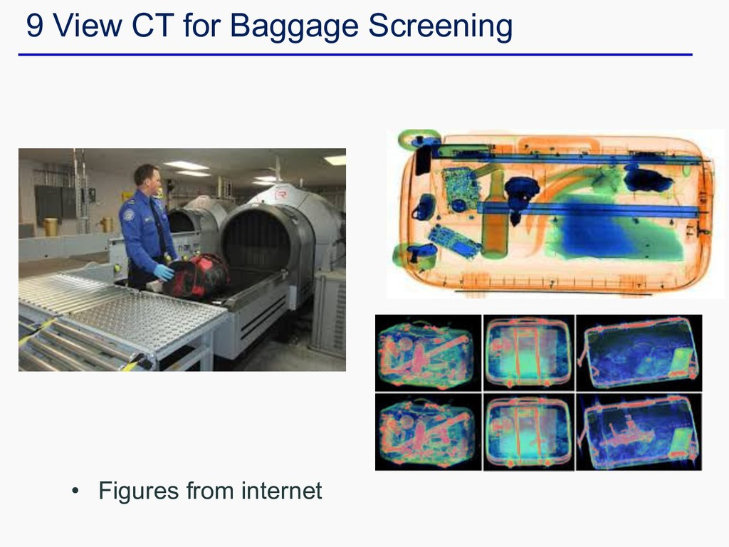 • Figures from internet 9 View CT for Baggage S...