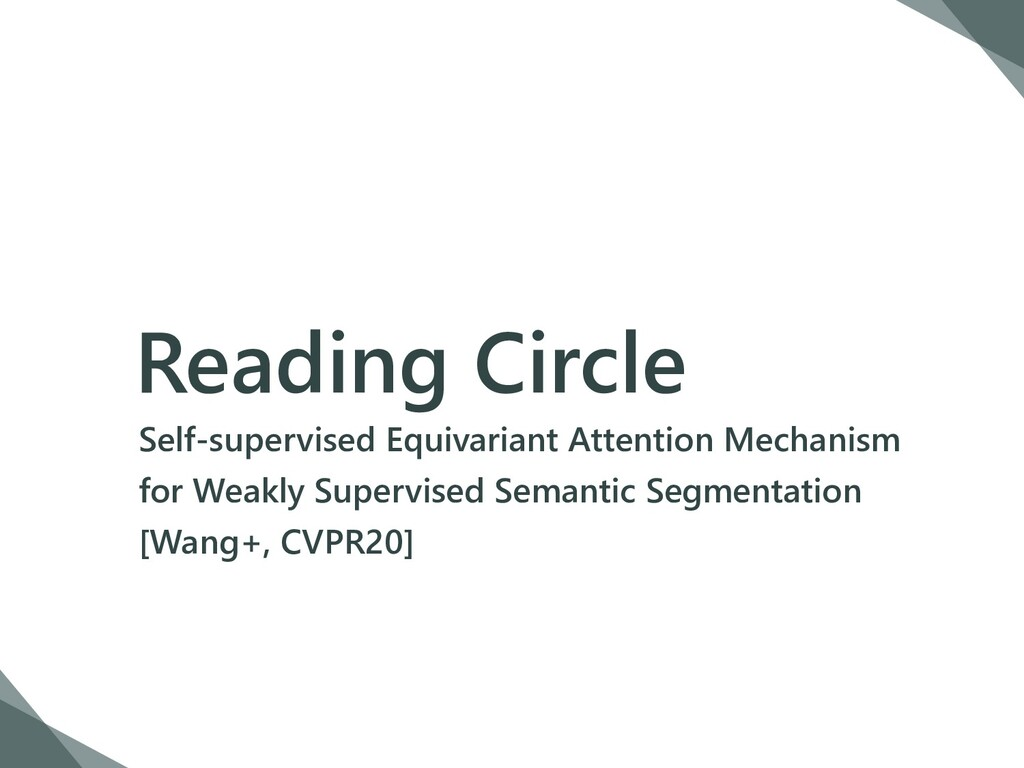 Reading Circle Self-supervised Equivariant Atte...
