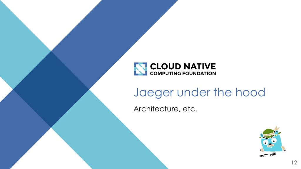 Jaeger under the hood Architecture, etc. 12