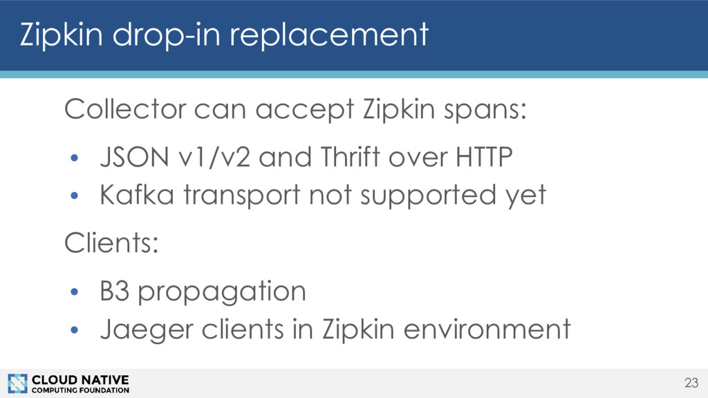Zipkin drop-in replacement Collector can accept...