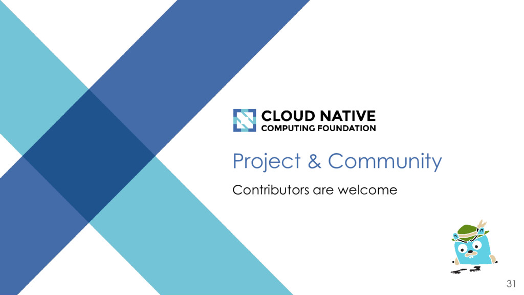 Project & Community Contributors are welcome 31