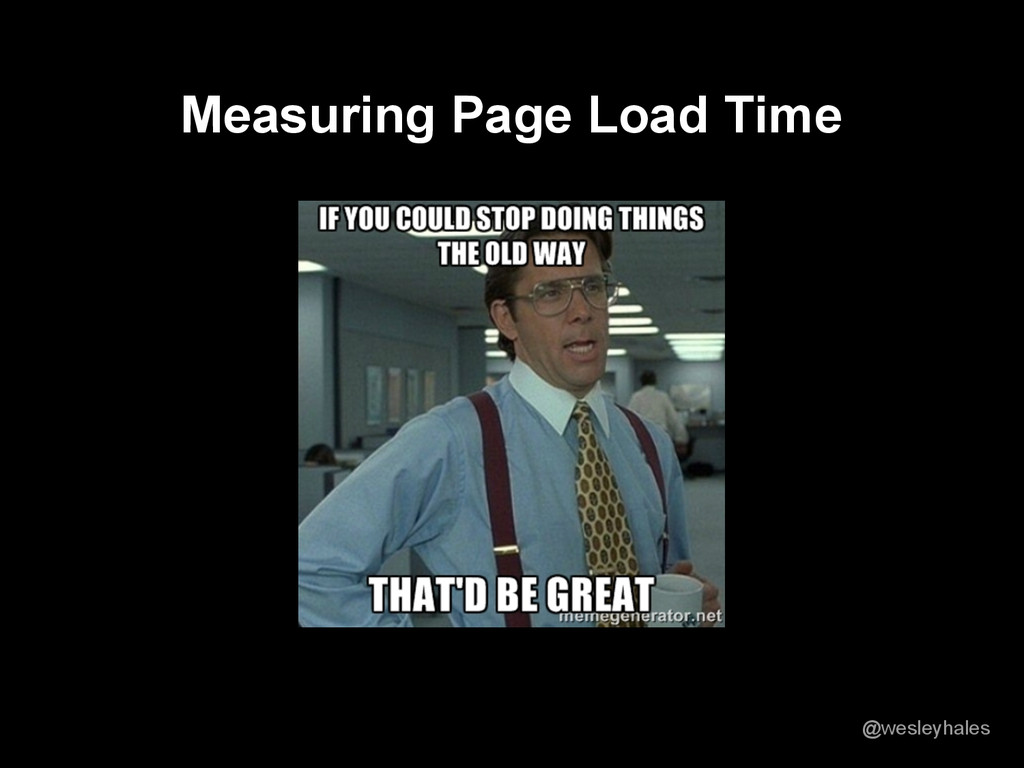 Measuring Page Load Time @wesleyhales