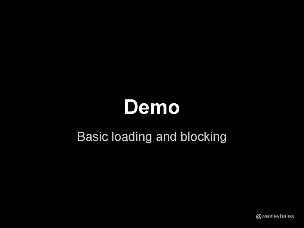 Basic loading and blocking Demo @wesleyhales
