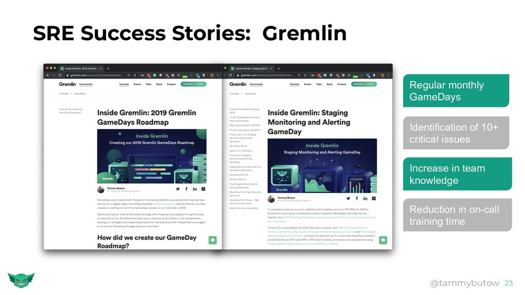 SRE Success Stories: Gremlin 23 @tammybutow Reg...